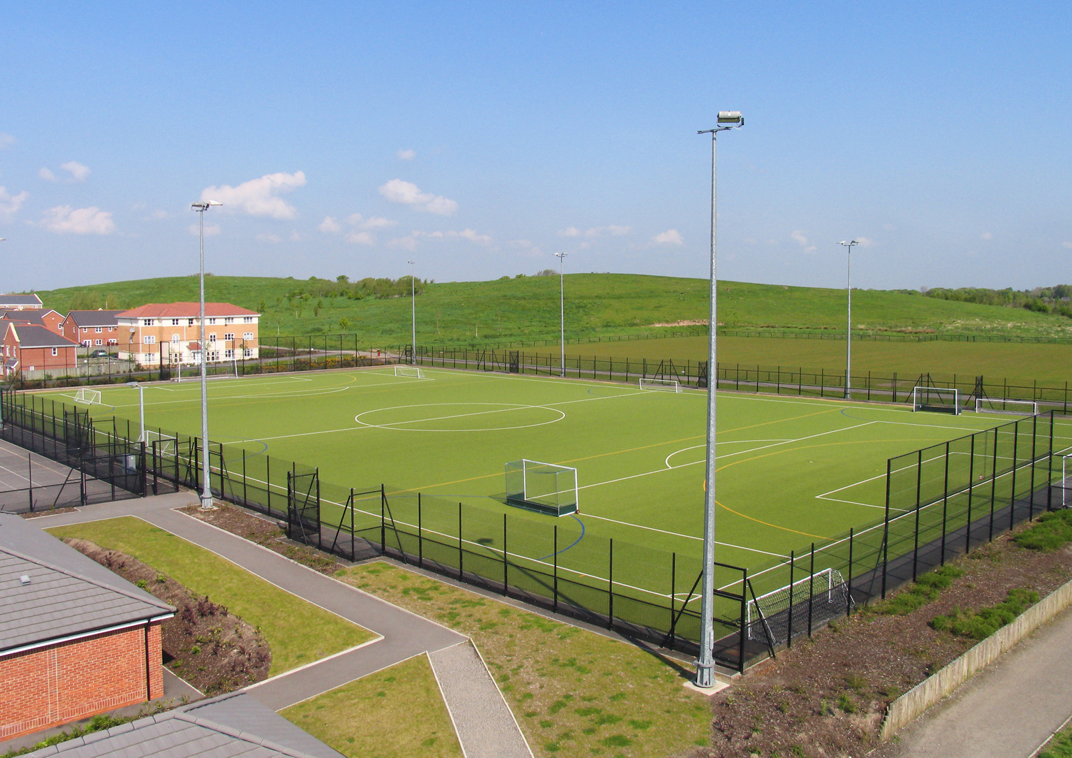 Sports Pitches above view